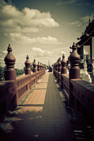 thailand culture: pathway northern thailand culture retro style