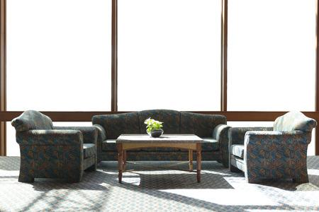 ventana interior aislado en blanco