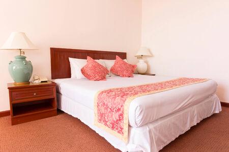 bedroom design: Contemporary bedroom design Stock Photo
