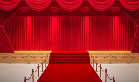 sala de teatro con la alfombra roja