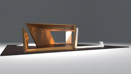 exhibition: modern booth exhibition design, 3d render