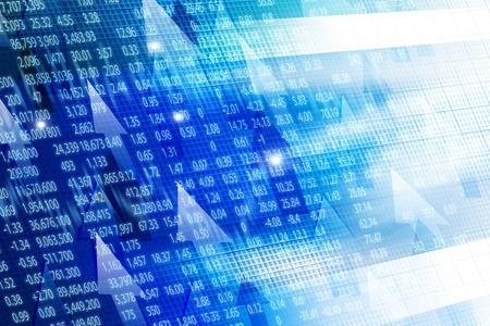 Visualizaci�n de bolsa de valores gr�fico de fondo Foto de archivo