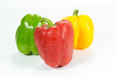 bell peper: sweet peppers isolated in white background Stock Photo