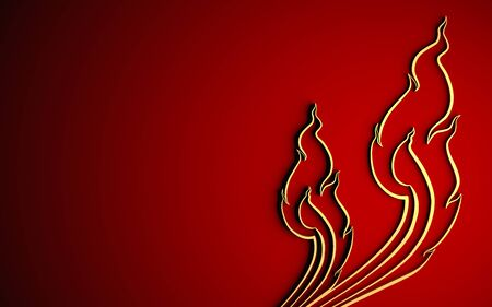 gold textured background: gold thai art pattern on red background