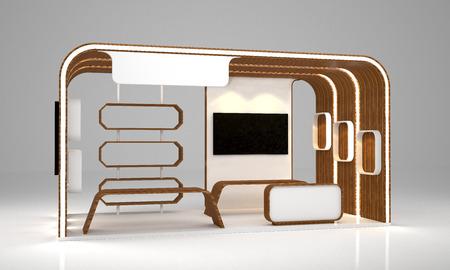 blank modern booth exhibition design