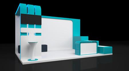 tradeshow: blank modern booth exhibition design