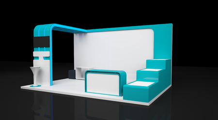 business exhibition: blank modern booth exhibition design