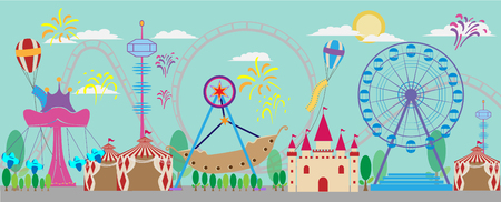 park: vector of amusement park background