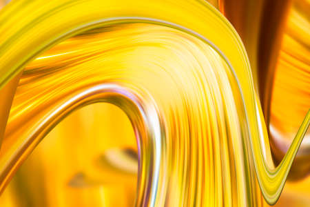 futurist: abstract yellow gold wave curves background