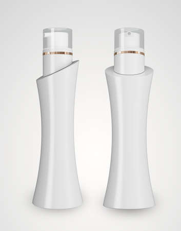 cosmetic bottle: Cosmetic isolated product. 3d cosmetic bottle.