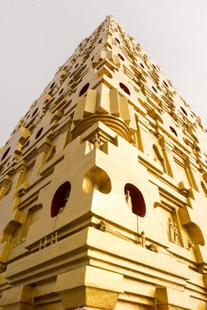 Golden pagoda at Wang Vivek Karam temple at Sangkhlaburi,Thailand