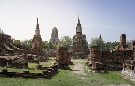 Ayutthaya historic park UNESCO World Heritage Site 版權商用圖片