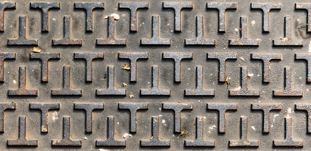 Metal plate with T shape texture and background