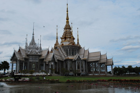 temple thailand: Temple,buddhism,Thailand,Ko-rat,Pak-chong,buddha,wat,Thailand Temple Stock Photo