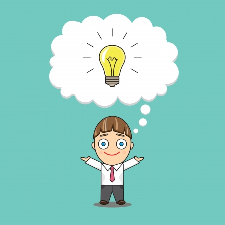 A businessman has an idea Stock Vector - 21465078