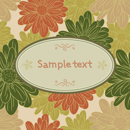 Floral card template Vector