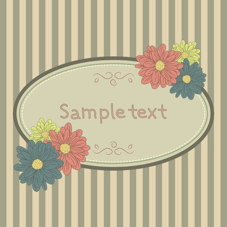 Card template with flowers Vector