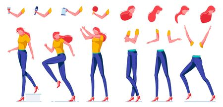 Slim Woman with Red Hair, Body Parts Creation.