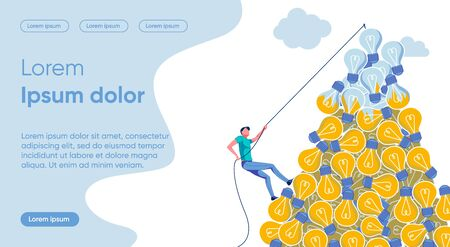 Idea Irrelevance Flat Landing Page Vector Template