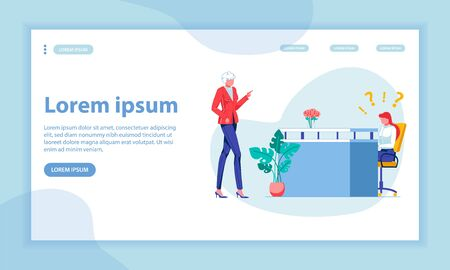 Chief Instructions Landing Page Vector Template