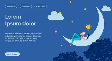 Idea Emergence Flat Landing Page Vector Template