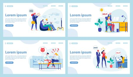 Four Office Work Landing Page Design Templates