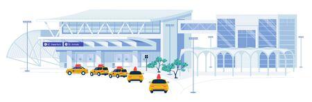 Usługi transportu taksówkami dla pasażerów lotniczych.