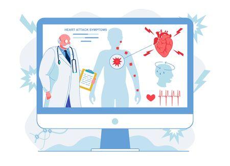 Doctor Explains Heart Attack Symptoms Illustration