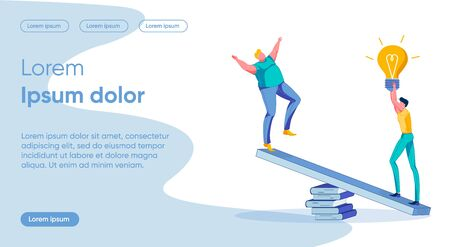 Idea Importance Flat Landing Page Vector Template
