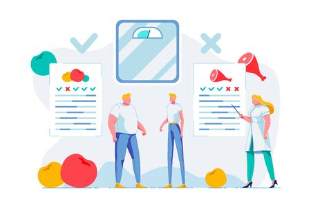 Nutritionist Consultation Flat Vector Illustration