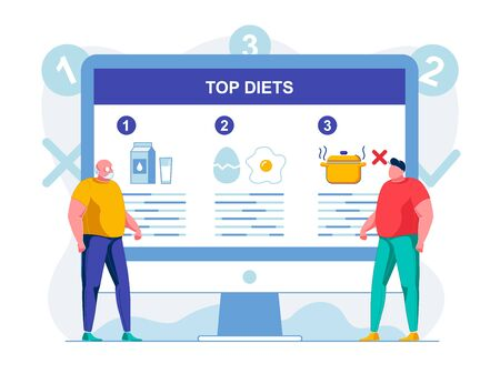 Dietary Nutrition Website Flat Vector Illustration