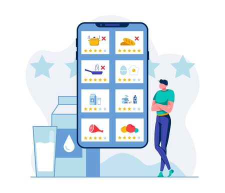 Healthy Nutrition Mobile App Vector Illustration