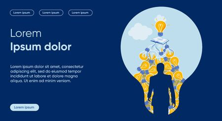 New Solution Flat Landing Page Vector Template