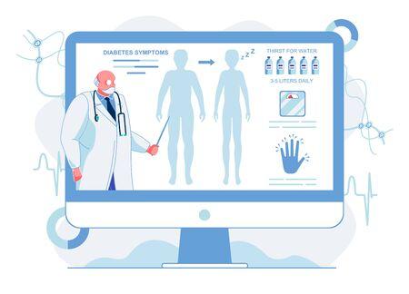 Doctor Explaining Diabetes Symptoms Illustration