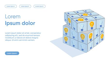 Problem Solving Flat Landing Page Vector Template