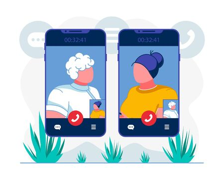 Telehealth Video Conference App Flat Illustration. Female Patient Calling to Therapist Cartoon Character. Innovative Telemedicine Smartphone Application User. E health Client Making Videocall