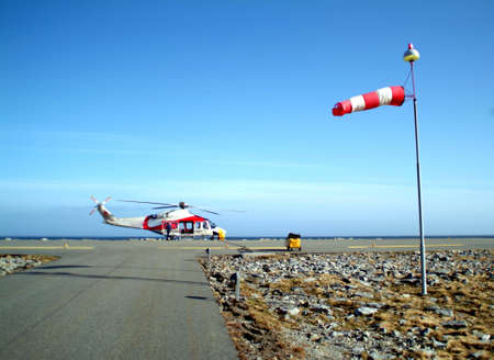 Grounded helicopter