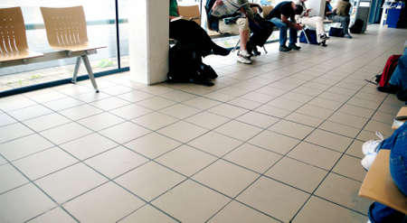 delays: Airport waiting lounge