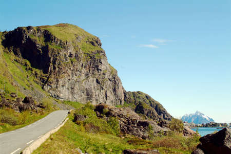 lofoten: A road in Stamsund, Lofoten