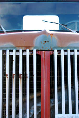 The front of a vintage truck Stock Photo - 2678972