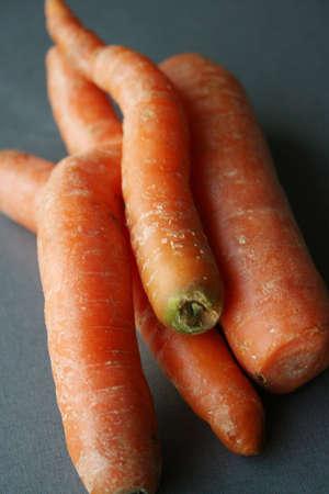 bunch of fresh organic carrots  Stock Photo