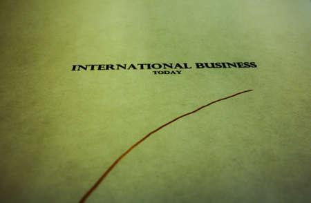 International business, grungy photo