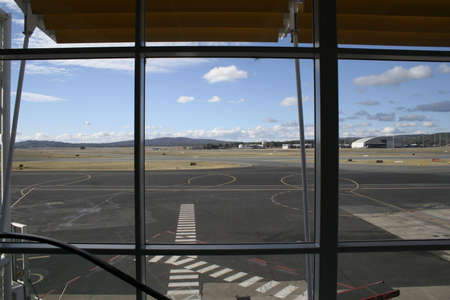 A view of the runway at Canberra International Airport