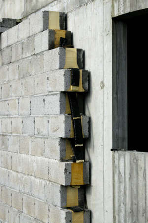 A wall of concrete with insulation for cold climate