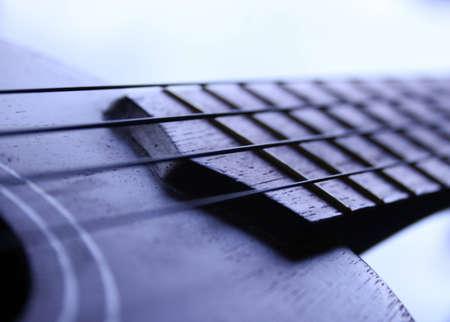 Close up of a soprano ukulele