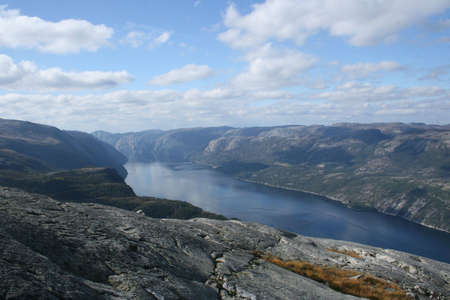 The Lysefjord in Norway Stock Photo