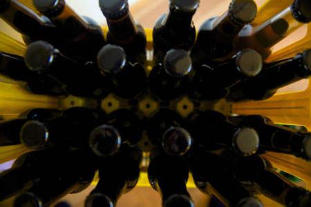 Crate of beer bottles