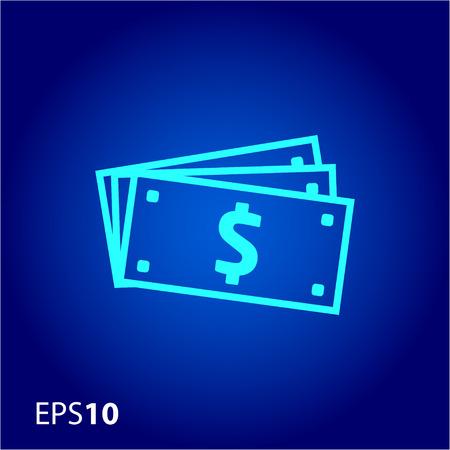 dollar bills: Dollar bills icon for web and mobile Illustration