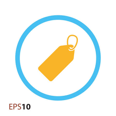 blank tag: Blank price tag icon for web