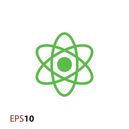 atomic symbol: Minimal atom icon for web Illustration